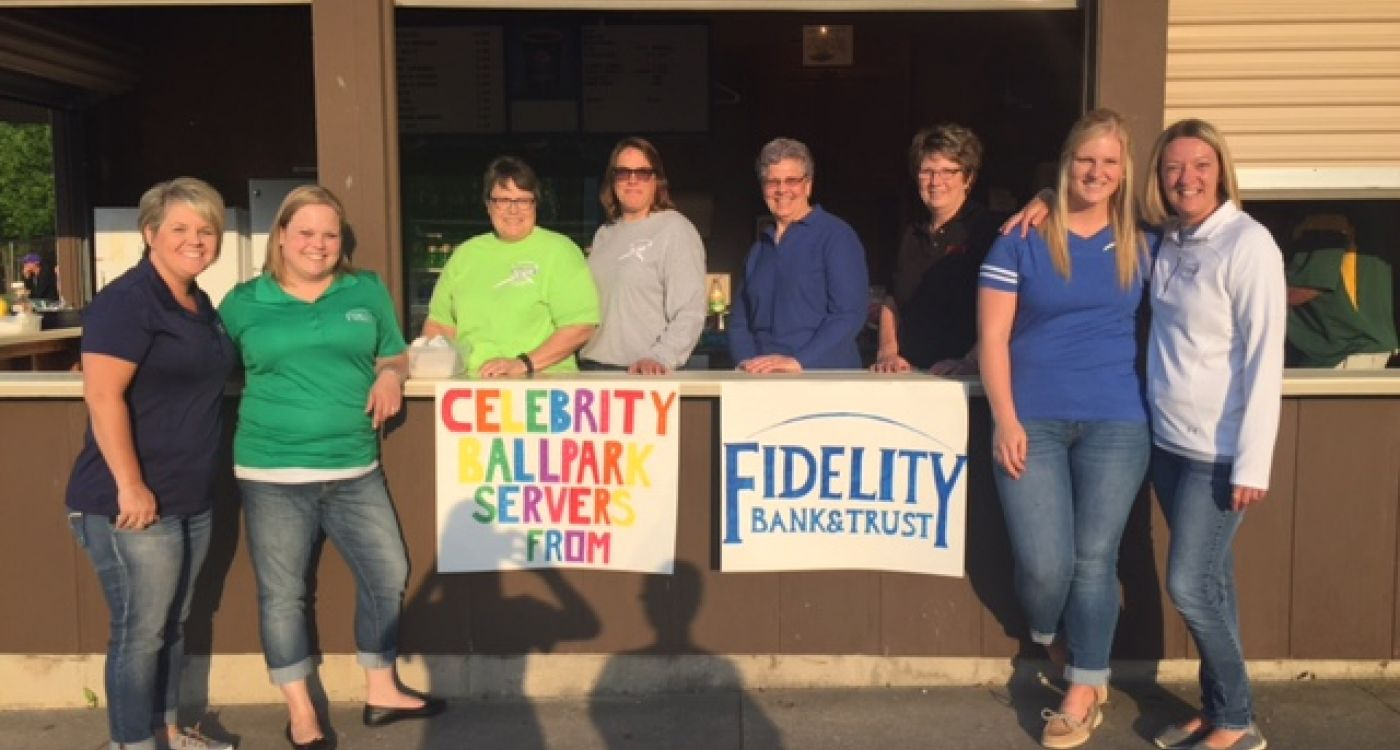 Beckman concession stand with Fidelity Bank & Trust team