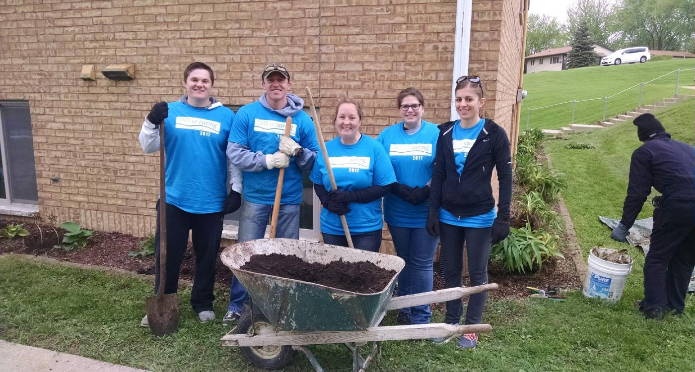 Day of Caring with Fidelity Bank & Trust team